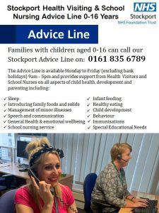 Stockport Health Visiting & School Nursing Advice Line