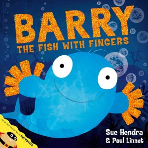 Barry the fish with fingers link to story