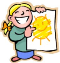 Girl with sunshine picture