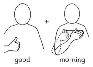 Makaton good morning sign