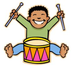 boy playing a drum